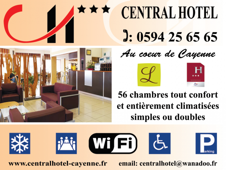 4x3 longue conservation du Central Hôtel de Cayenne