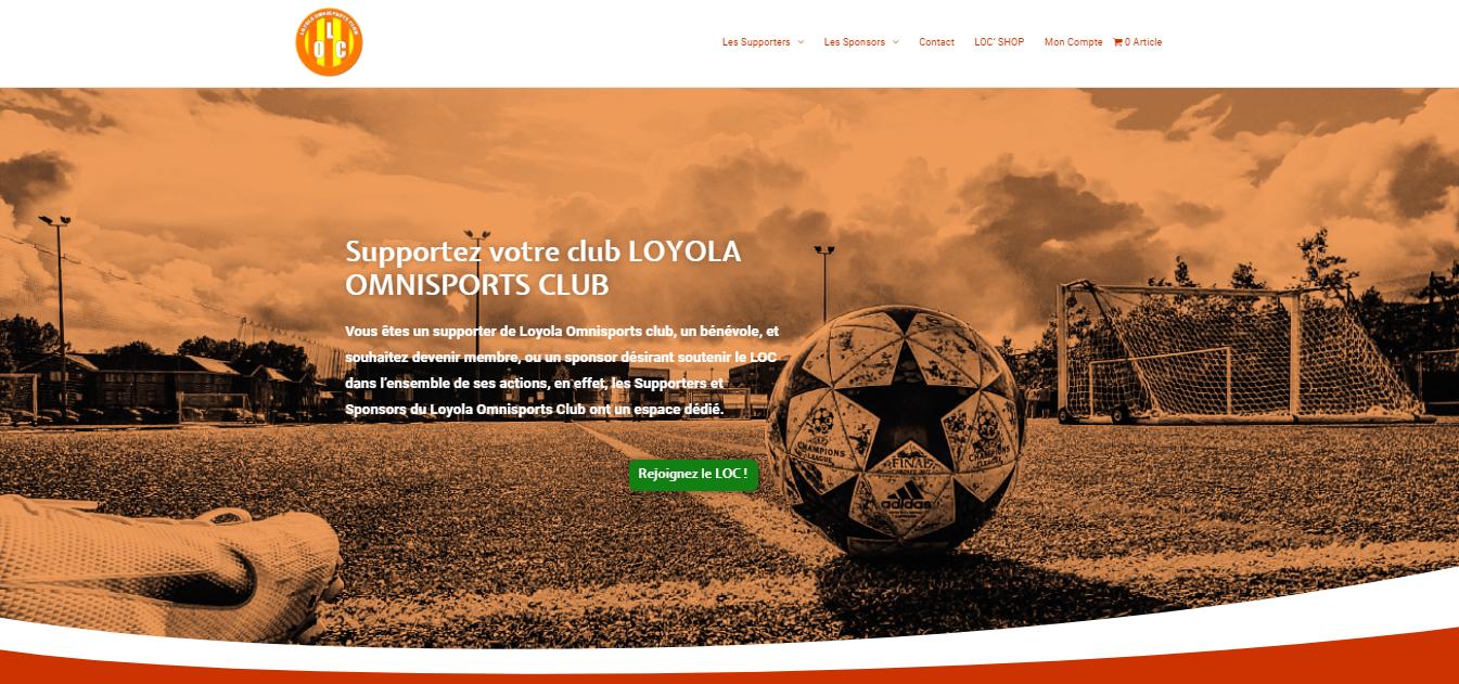 Création du site des Supporters & Sponsors du Loyola Omnisports Club